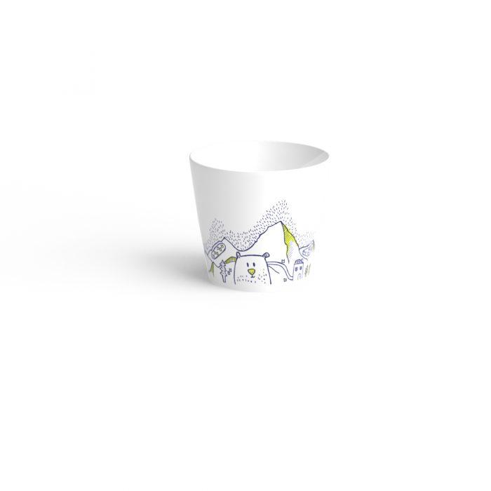 timbale en porcelaine de limoges à table